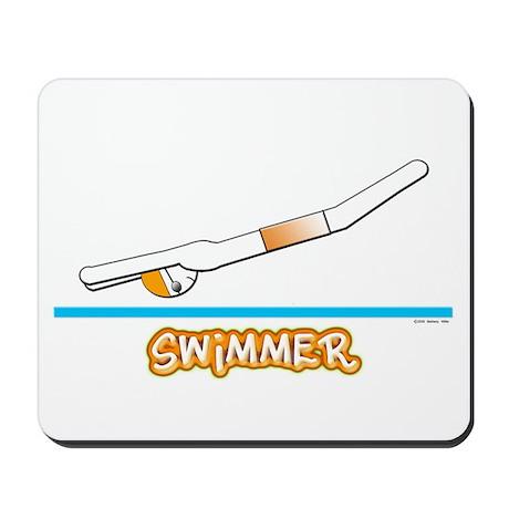 Swimmer (Boy) Orange Suit Mousepad