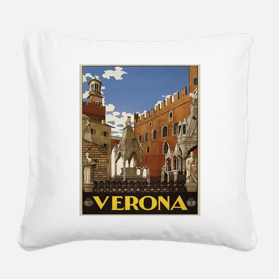 Verona Italy Square Canvas Pillow