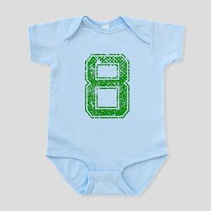 8, Green, Vintage Infant Bodysuit