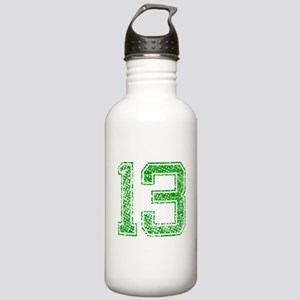 13, Green, Vintage Stainless Water Bottle 1.0L