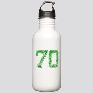 70, Green, Vintage Stainless Water Bottle 1.0L