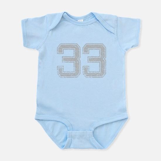 33, Grey, Vintage Infant Bodysuit