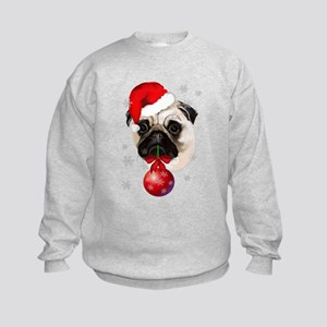 A Very Merry Christmas Pug Kids Sweatshirt