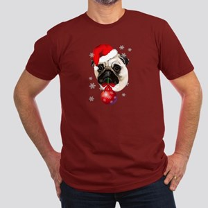 A Very Merry Christmas Pug Men's Fitted T-Shirt (d