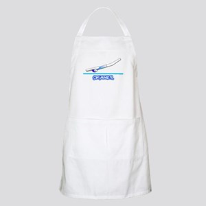 Swimmer (Girl) Blue Suit BBQ Apron