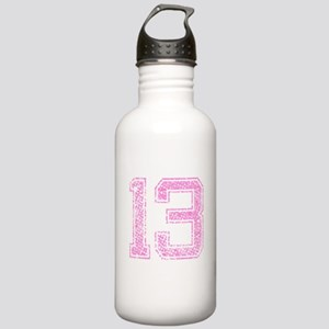 13, Pink Stainless Water Bottle 1.0L