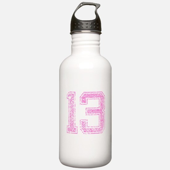 13, Pink Water Bottle
