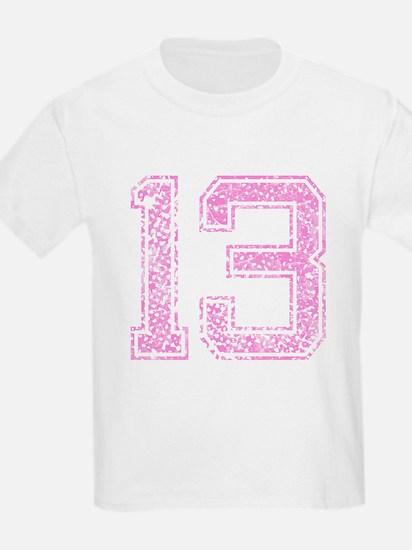 13, Pink T-Shirt