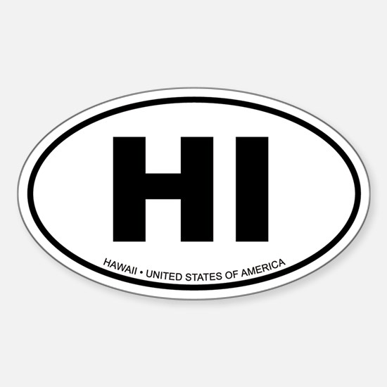 Hawaii Oval Decal