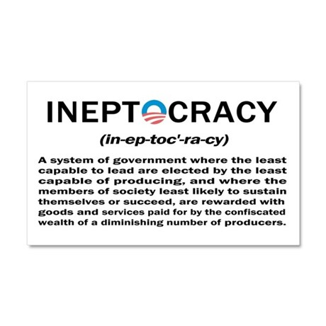 Ineptocracy Car Magnet 20 x 12