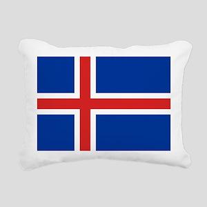 Flag of Iceland Rectangular Canvas Pillow
