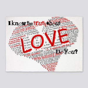 The Truth about Love 5'x7'Area Rug