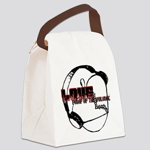 Love Pump up the volume (#4) Canvas Lunch Bag