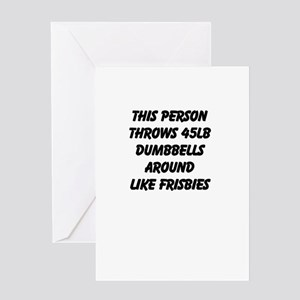 Throw Dumbbells Greeting Card