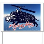 Flying boar Yard Sign
