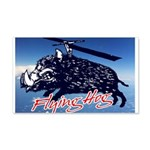 Flying boar 20x12 Wall Decal