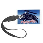 Flying boar Large Luggage Tag