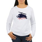 Flying boar Women's Long Sleeve T-Shirt