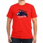 Flying boar Men's Fitted T-Shirt (dark)