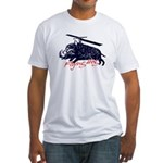 Flying boar Fitted T-Shirt