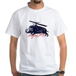 Flying boar White T-Shirt