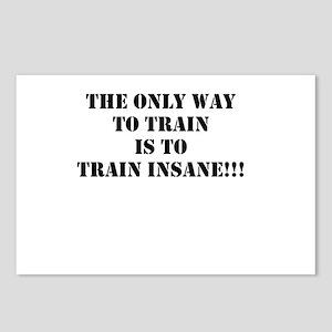 Train insane (beastmode) Postcards (Package of 8)