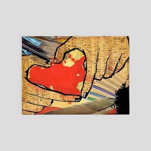 Heart of an Artist 5'x7'Area Rug