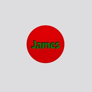 James Red and Green Mini Button