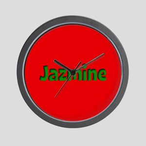 Jazmine Red and Green Wall Clock