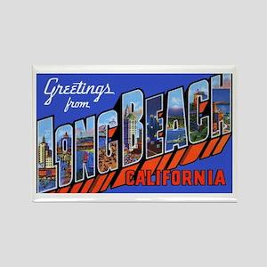 Long Beach California Rectangle Magnet