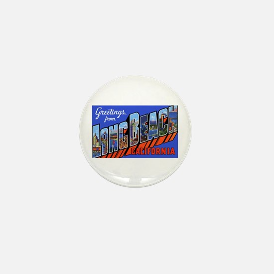 Long Beach California Mini Button