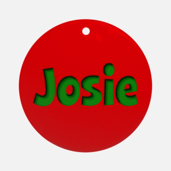 Josie Red and Green Ornament (Round)