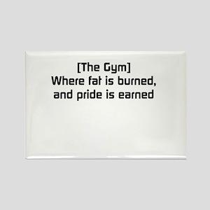 Fat burned, pride earned Rectangle Magnet