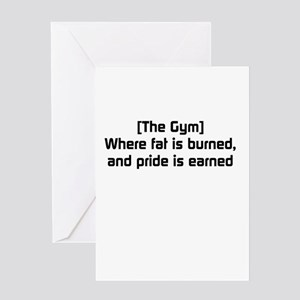 Fat burned, pride earned Greeting Card