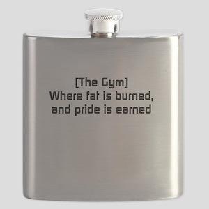 Fat burned, pride earned Flask