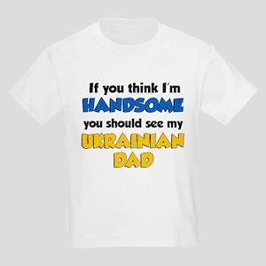 Think Handsome Ukrainian Dad Kids Light T-Shirt
