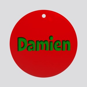 Damien Red and Green Ornament (Round)
