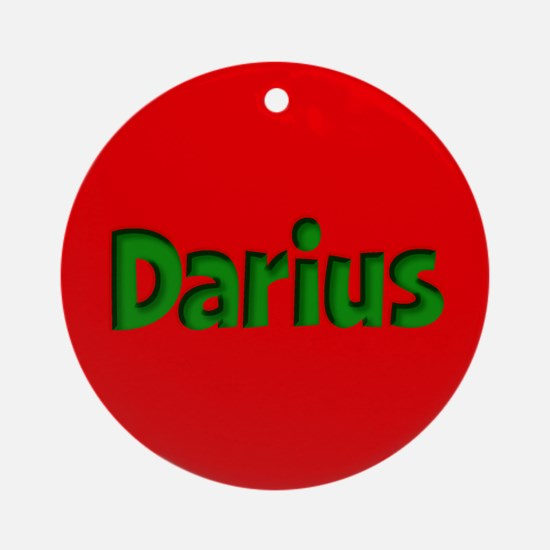 Darius Red and Green Ornament (Round)