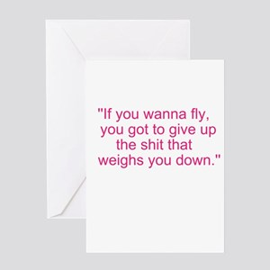 If you wanna fly.... Greeting Card