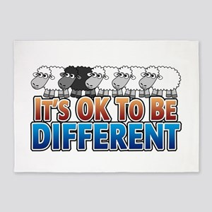 Its OK to be Different 5'x7'Area Rug
