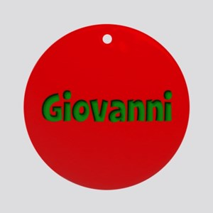 Giovanni Red and Green Ornament (Round)