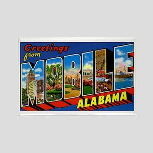 Mobile Alabama Greetings Rectangle Magnet