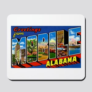 Mobile Alabama Greetings Mousepad