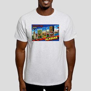 Mobile Alabama Greetings Ash Grey T-Shirt