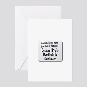 Dumbbell vs dumb ass Greeting Card