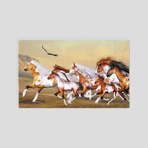 Wild Horses Herd 3'x5' Area Rug