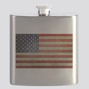 Weathered American Flag Flask