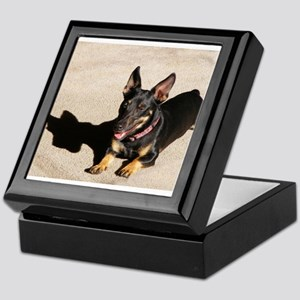 That Day Glow Dog is at it Again Keepsake Box