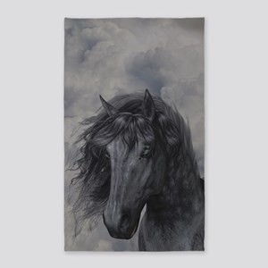 Black Horse 3'x5' Area Rug