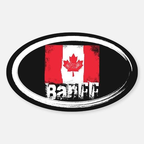 Banff Grunge Flag Sticker (Oval)